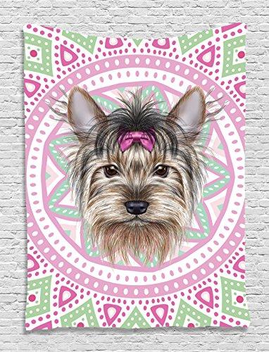 Yorkshire Terrier Portrait Bohemian Tapestry