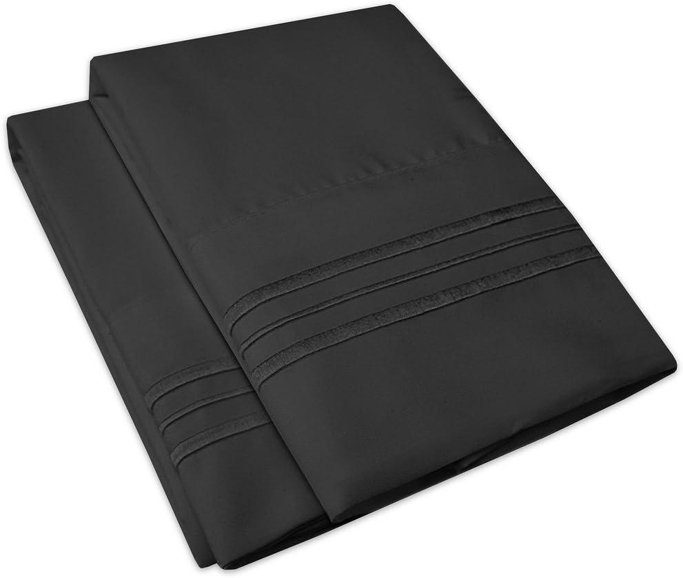 1500 Supreme Collection Pillowcase - Standard, 2 Count, Black