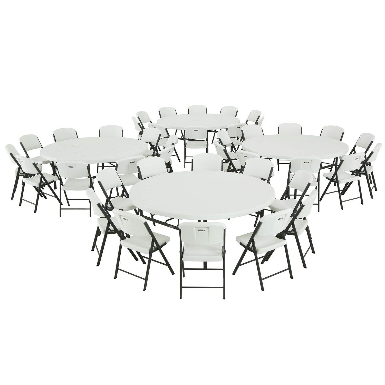 Wondrous Amazon Com Lifetime Combo 4 72 Round Commercial Grade Machost Co Dining Chair Design Ideas Machostcouk