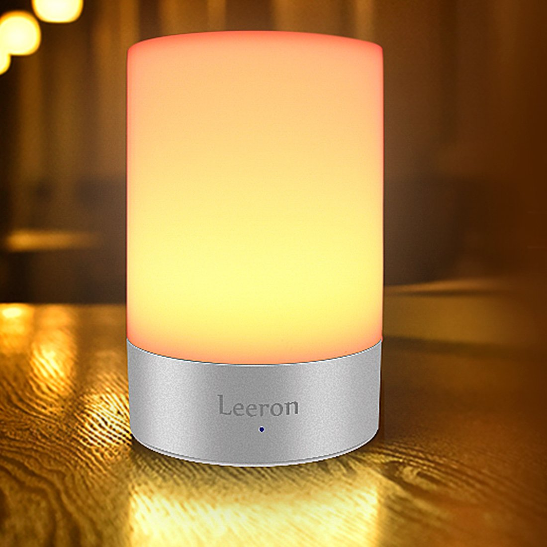 Table Lamp, Touch Sensor Bedside Lamp + Dimmable Warm White Light & Color Changing RGB