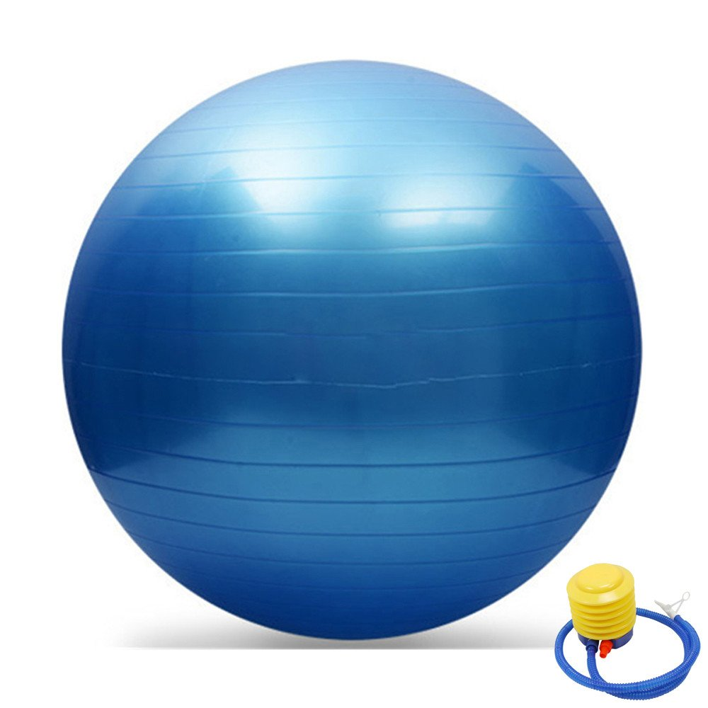 65cm Exercise Yoga Balls Fitness Anti Burst Birthing Pregnancy Swiss Ball /& Pump