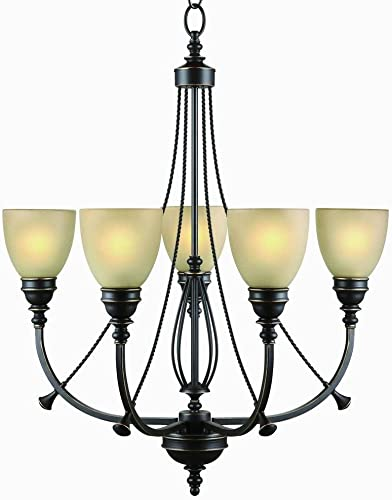 Commercial Electric 5-Light Bronze Chandelier RB063-P5