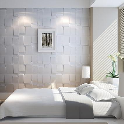 Art3d Da Muro Diy Colla Per Piastrelle 3d Rivestimento In Pvc Da Parete Per Interni Modello 1 3 M Amazon It Fai Da Te
