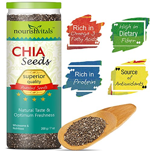 Nourish Vitals Roasted Chia Seeds (Superior Quality) – 200 gm