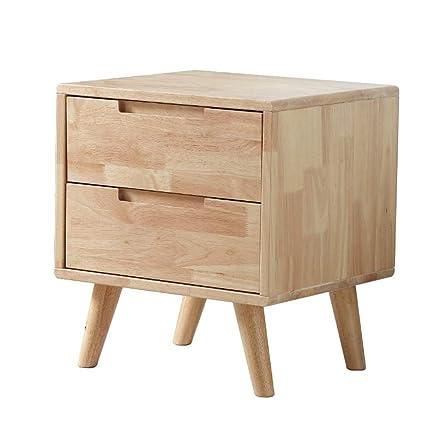 Amazon.com: QYSZYG - Mesita de noche de madera maciza, roble ...