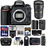 Nikon D750 Digital SLR Camera Body with 24-70mm f/2.8 Lens + 64GB Card + Battery/Charger + Case + Filters + GPS + Flash + Kit