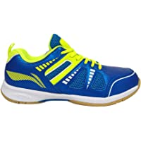 Li-Ning Attack III Non-Marking Badminton Shoes, UK 6 (Blue/Lime)