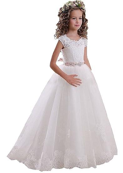 KekeHouse Ragazze Vestito Festa da Principessa Paillettes Matrimonio Vestito  per Compleanno Floreale Abiti per la Matrimonio Carnevale 2-13 anni   Amazon.it  ... 8a8ceb7ec26