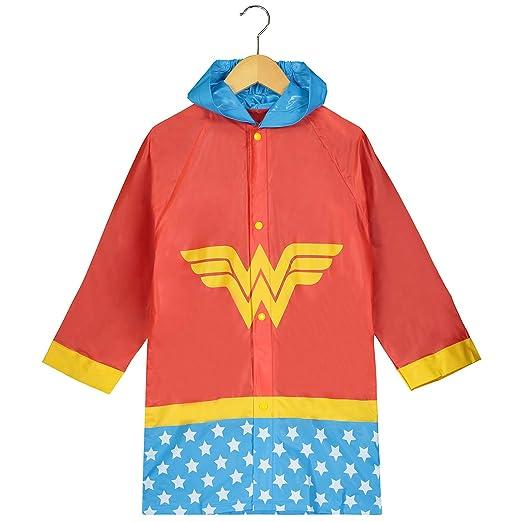 1d0183b5c Amazon.com  DC Comics Girls Wonder Woman Printed Waterproof Hooded ...