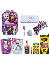 Disney Frozen 16 Backpack Elsa & Anna Sisters Love w/ Matching Lunch Bag Set