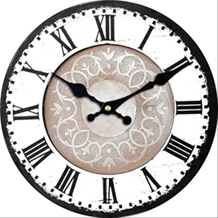 PMWLKJ Números Romanos Reloj de Pared Decorativo Antiguo