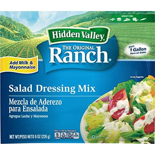 Hidden Valley Original Ranch Dressing Mix, 1 Gallon, 8 Ounce Packet, Pack of 12 - Mix Ranch Gluten Free