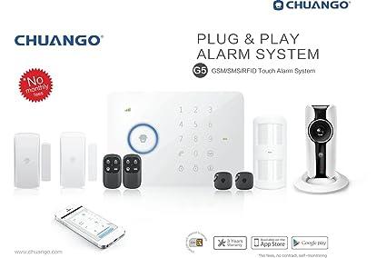 GSM/SMS Chuango RFID-radio-de alarma G5 con WiFi Cámara IP ...