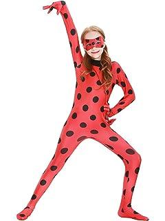 YOSICIL Niña Disfraz Las Aventuras de Ladybug Traje Lunares ...