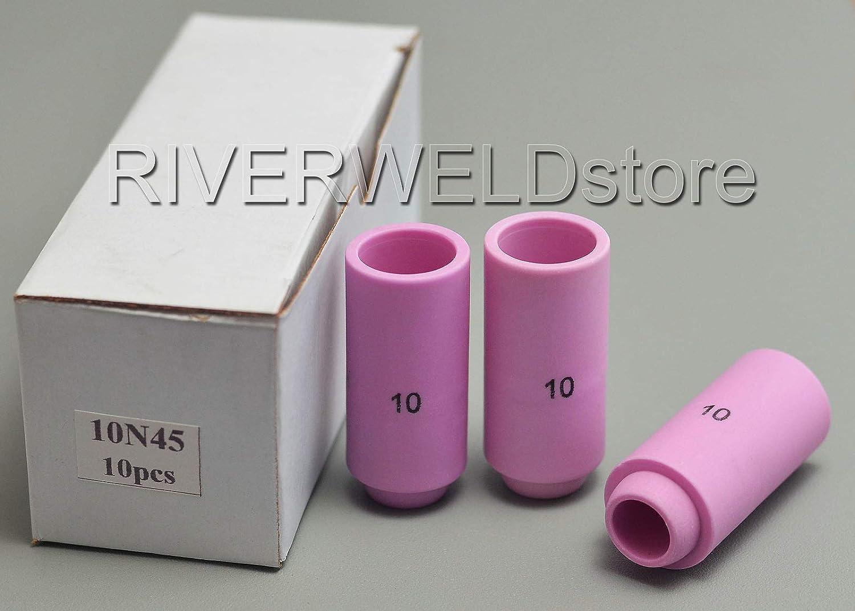 TIG Alumina Ceramic Cup Nozzles Accessories 10N45 Fit DB PTA SR WP 17 18 26 TIG Welding Torch 5pk