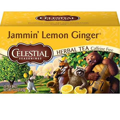 Celestial Seasonings Herbal Tea, Jammin' Lemon Ginger, 20 Count Box