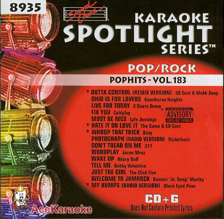 Sound Choice Karaoke Spotlight CDG SCG8935 - Pop/Rock Pophits - Vol. 183 (Karaoke Spotlight Sound Choice)