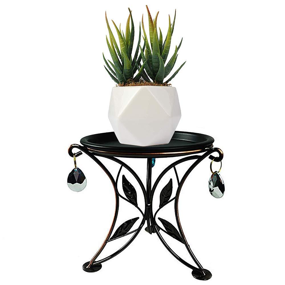 5.5-Inch Indoor Plant Stand Mini Desktop Succulent Holder Iron Flower Pot Trivet for Office Countertop