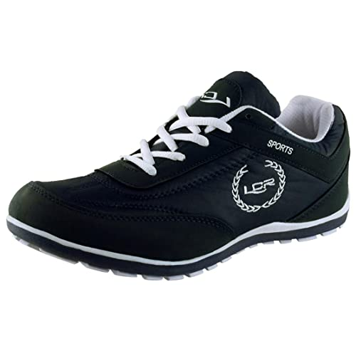 quality design 6eb34 7427b Lancer Men's Black and White Mesh Running Shoes (PERTH-$P)