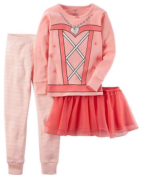 5a04a55ac7fe Amazon.com  Carter s Baby   Toddler Girls Snug Fit Pajama and Tutu ...