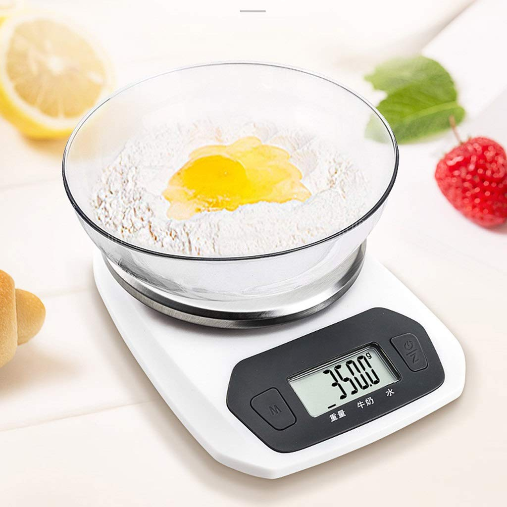 DOZ Kitchen Scale Baking Electronic Scale Precision Small Jewelry Scale Household Food Said 0.1g Small Scale Weighing Gram (Color : Green) by DOZ