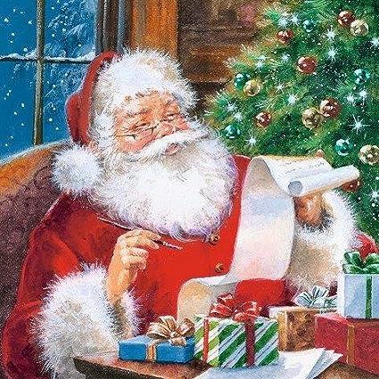 33 x 33 cm confezione da 20 3 strati Tovaglioli di Babbo Natale