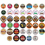 Crazy Cups Coffee, Tea, and Hot Chocolate Variety Sampler Pack for Keurig K-Cup Brewers, 40 Count