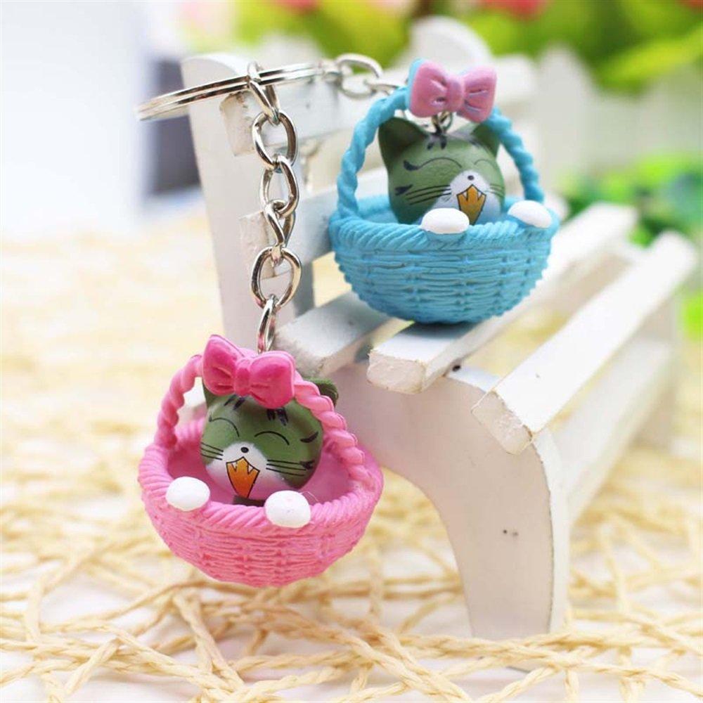 VEA-DE Regalo de Moda Llavero Animal Basket Cat Llaveros de ...