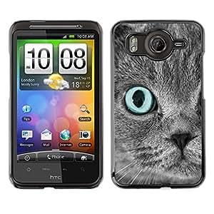 Vortex Accessory Carcasa Protectora Para HTC DESIRE HD - Scottish Fold Grey Blue Eye Cat Persian -