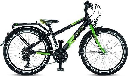 Puky 4880 Fahrrad Crusader 24 21 Schwarz Grun Amazon De Sport
