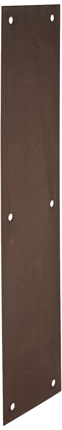 Rockwood 70B.10B Bronze Standard Push Plate, Four Beveled Edges, 15' Height x 3-1/2' Width x 0.050' Thick, Satin Oxidized Oil Rubbed Finish 15 Height x 3-1/2 Width x 0.050 Thick Rockwood Manufacturing Company