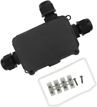 Creative-Idea Caja de Conexión IP66 – 3P/2P Impermeable 3/2 Cable Exteriores Negro Cajas con Bornes pasacables Conector, 3P: Amazon.es: Hogar