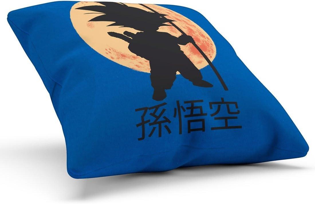 28x28 cm Housse en Coton Couleur:Schwarz style3 Jeune Goku Coussin avec Remplissage