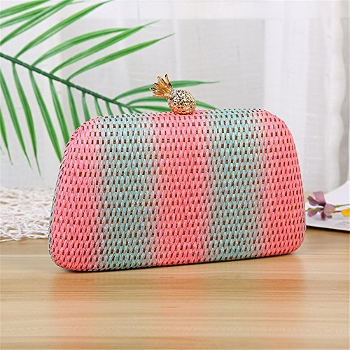 Knitted Texture Bridal Wedding Purse Rabbit Prom Clutch Hand Lady Lovely Bag OEwq6Ux