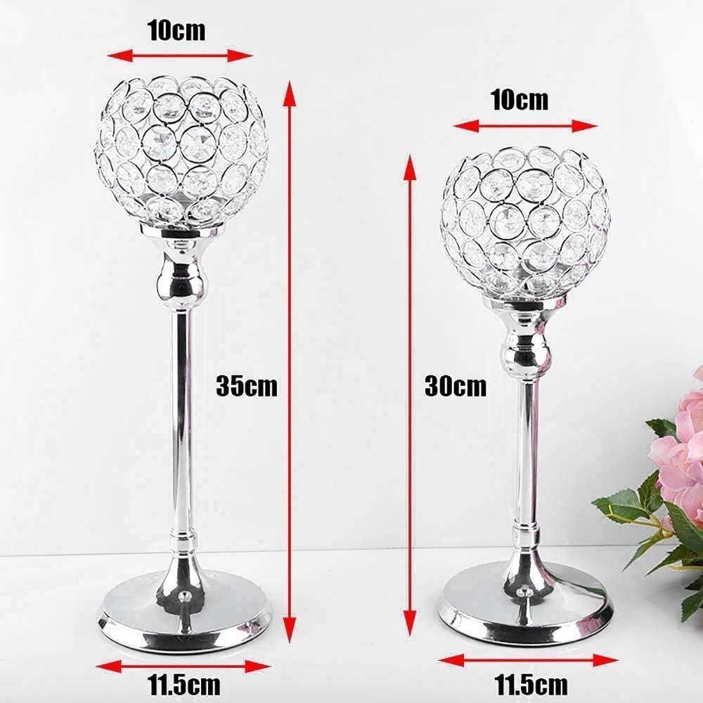 Christmas Candle Holder for Holiday Party Hollow Design Crystal Candle Holder Wedding Party Lamp Light Stand Tealight Candle Holders Romantic Candlestick Candelabra For Festival Birthday Christmas Val