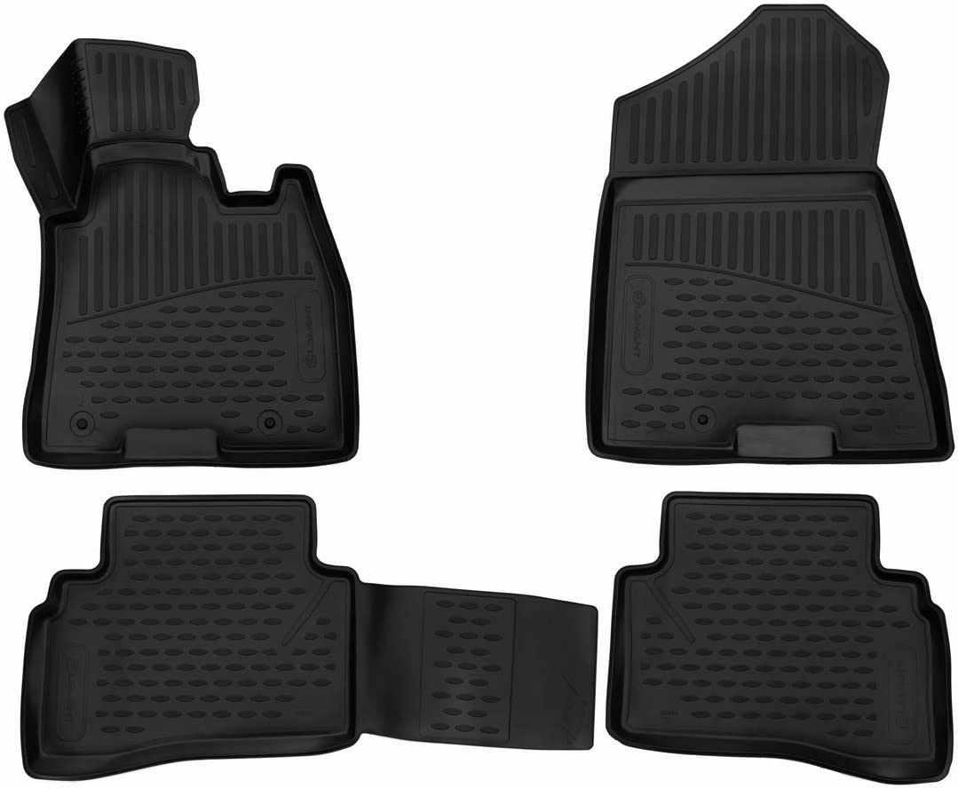 2018 Black Element EXP.ELEMENT3D02024210 Tailored Custom Fit 3D Rubber Floor Mats for Hyundai Tucson