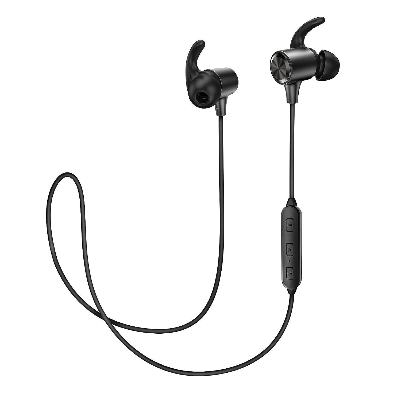 Bluetooth Headphones TaoTronics Wireless Earphones Sport Earbuds aptX In Ear Headset Sweatproof for Running (Certified Refurbished)