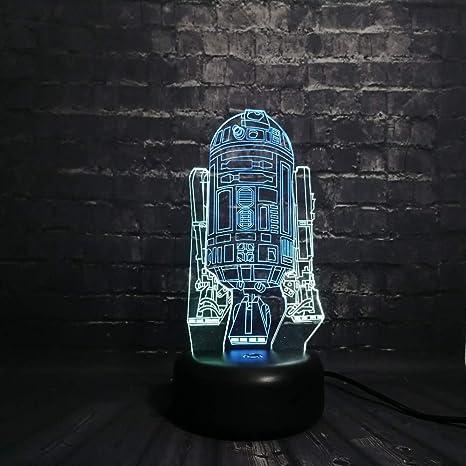 wangZJ Figura Robot R2 D2 Color mixto Multicolor Bombilla ...