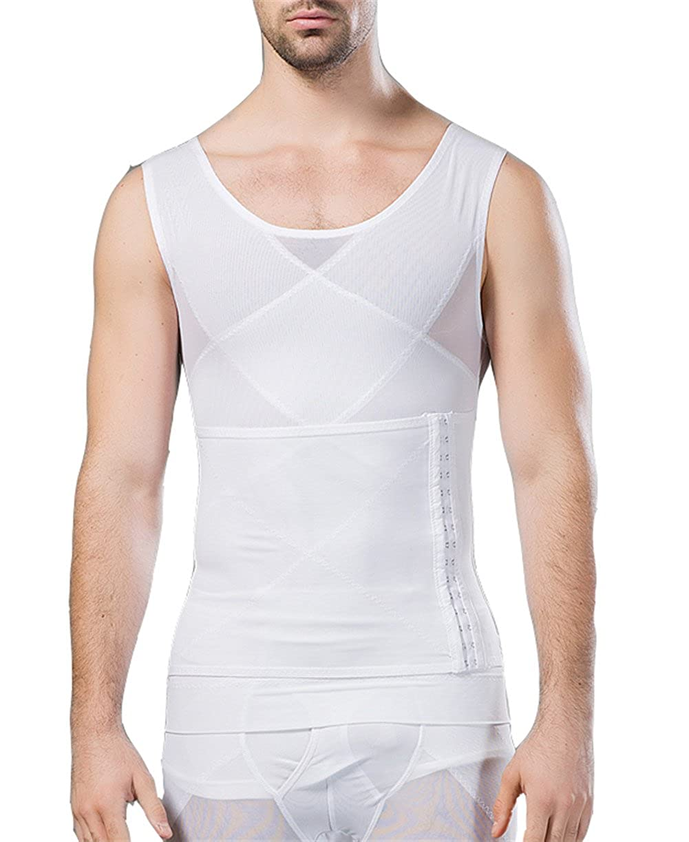 Breathable Gynecomastia Compression Hide Man Moobs Clasp Chest Binders Tank Tops