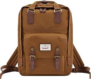 Himawari School Laptop Backpack for College Large 17 inch Computer Notebook Bag Travel Business Backpack for Men Women, Navy Blue