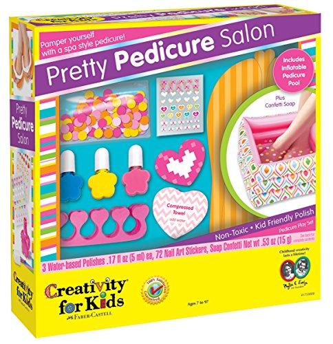 Fun Virtual Nail Salon Spa Kids: New Toy Faber Castell Pretty Pedicure Salon Gift Kids Game