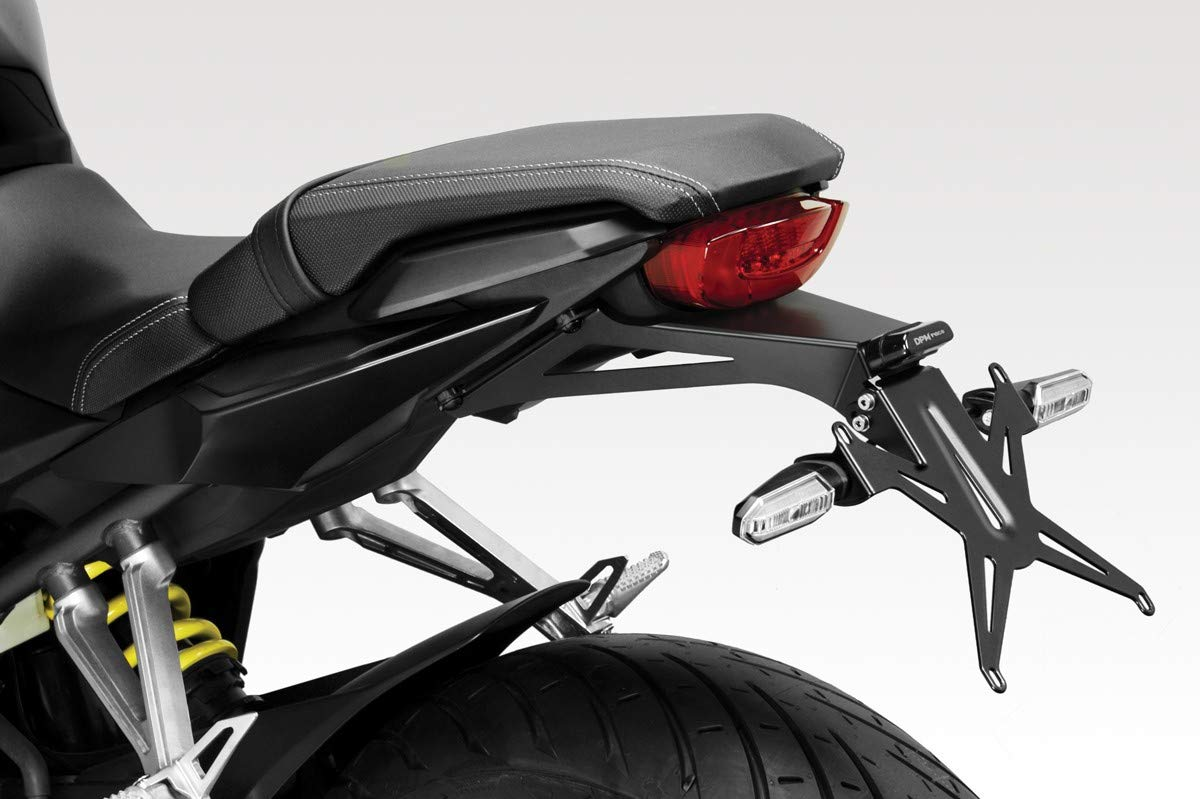 Accessoires De Pretto Moto DPM R-0917 - 100/% Made in Italy Kit Porte Plaque CBR650R 2019 Visserie Inclus - Support de Plaque dImmatriculation