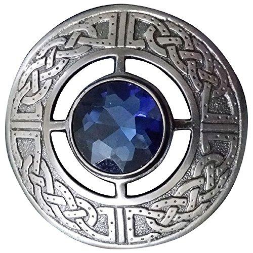 Scottish Kilt Fly Plaid Brooch Various Stones Silver Antique Finish 3