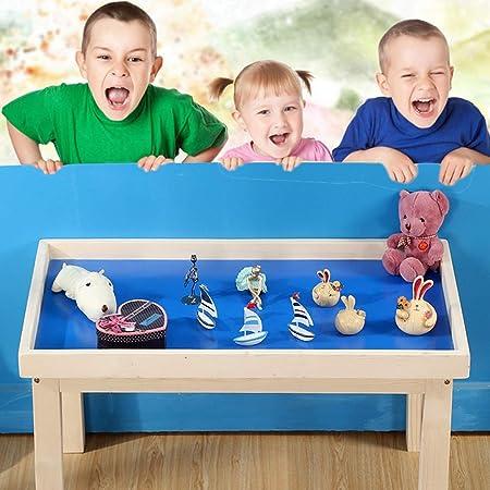 OUY Mesa Infantil Infantil Rompecabezas de Madera Maciza de Arena Juego de Mesa Tabla Taller de Arte Escritorio Espacio de Arena Mesa de niño Juego de Mesa Mesa de Picnic para jardín:
