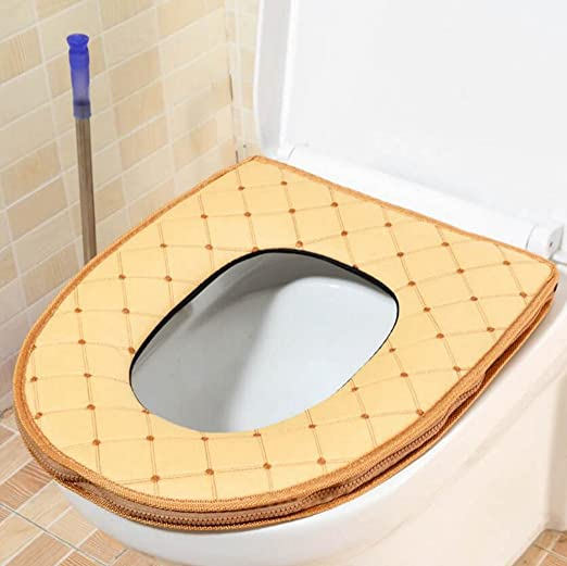 Gquan Almohadilla de wc Wc acolchado, cremallera ...
