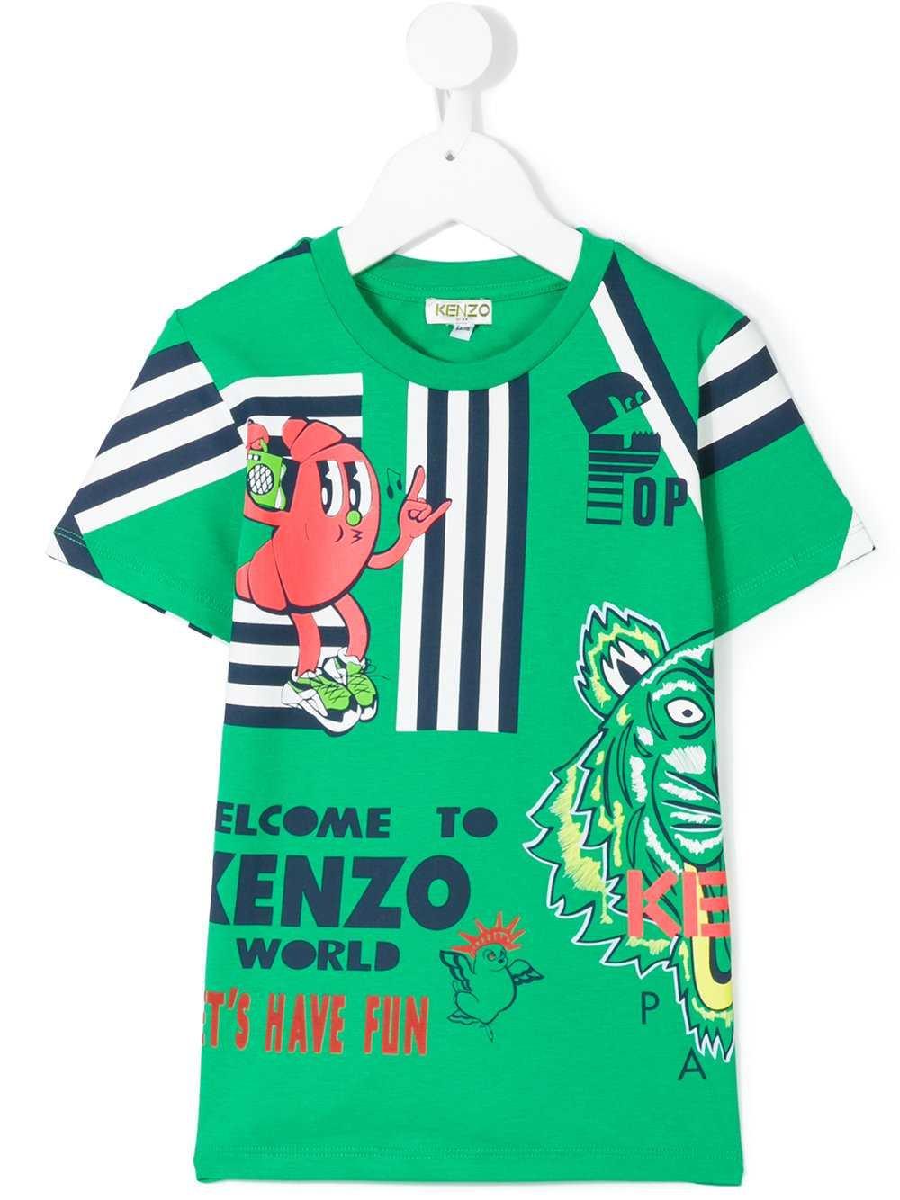 Kenzo Kids Printed T-Shirt (5Y)