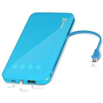 Batería portátil, JETech 5000 mAh Power Bank Cargador de ...