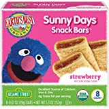 Earth's Best Organic Sunny Day Toddler Snack Bars with Cereal Crust, Made With Real Strawberries - 8 Count (Pack of 6)