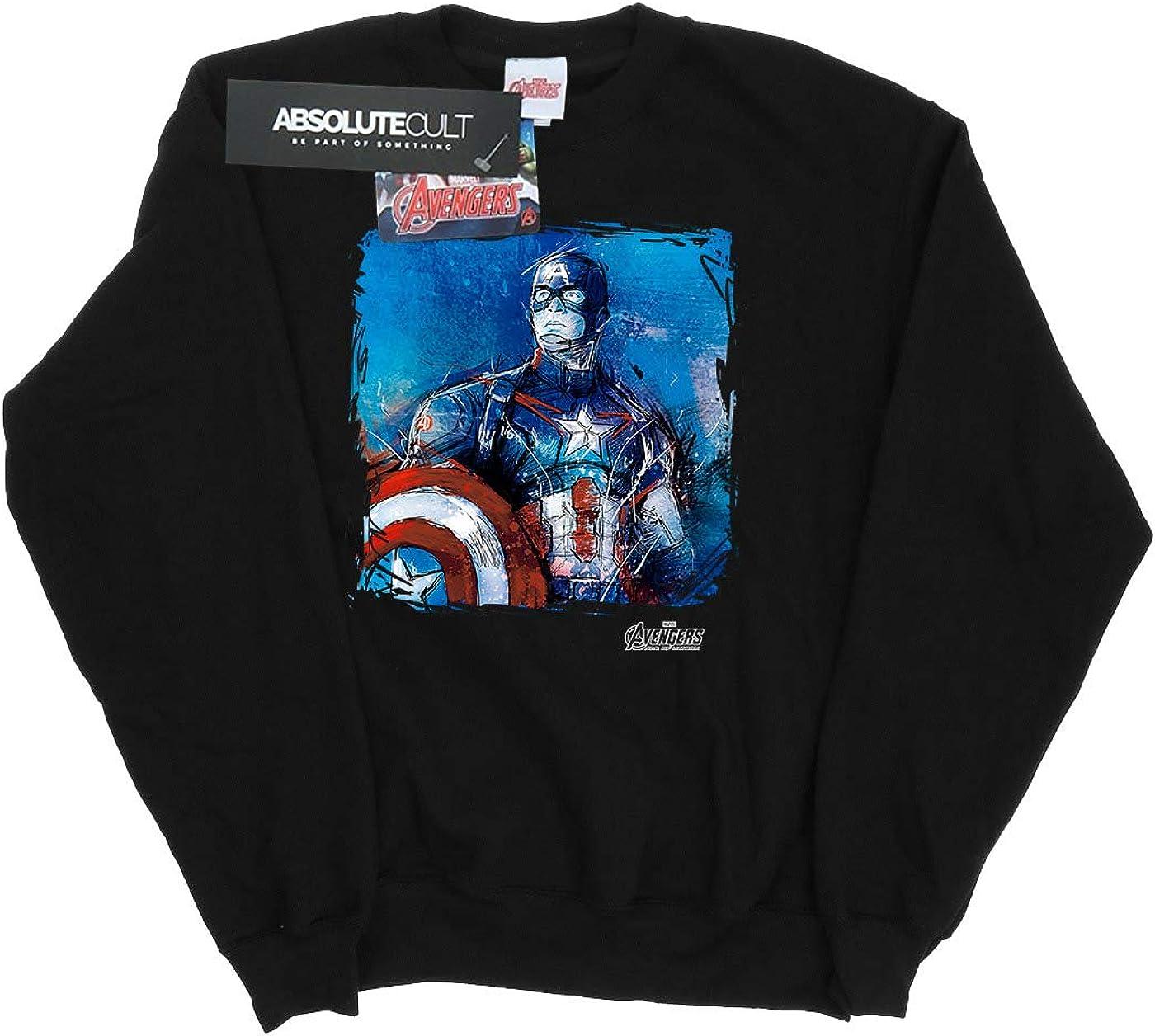 Marvel Mujer Captain America Art Camisa De Entrenamiento: Amazon.es: Ropa y accesorios