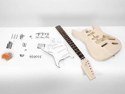 Juego de piezas de guitarra eléctrica GYVER ONE, color natural - Guitarra para montar /